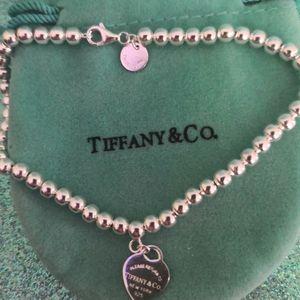 "Bracelet.Tiffany.19""sz 2mm.silver 925"